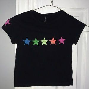Black t with stars